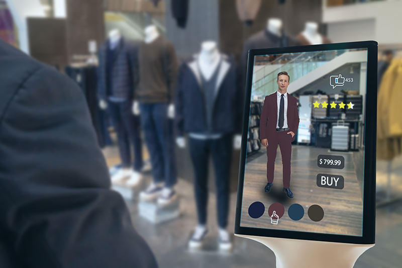 Digitale Werbung, Werbeflächen Laden