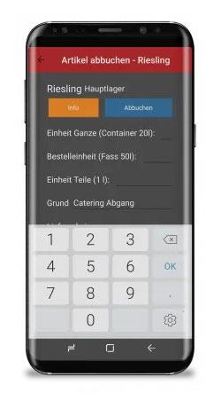 TIPOS Lager App Gastronomie, Handel, Bäckerei