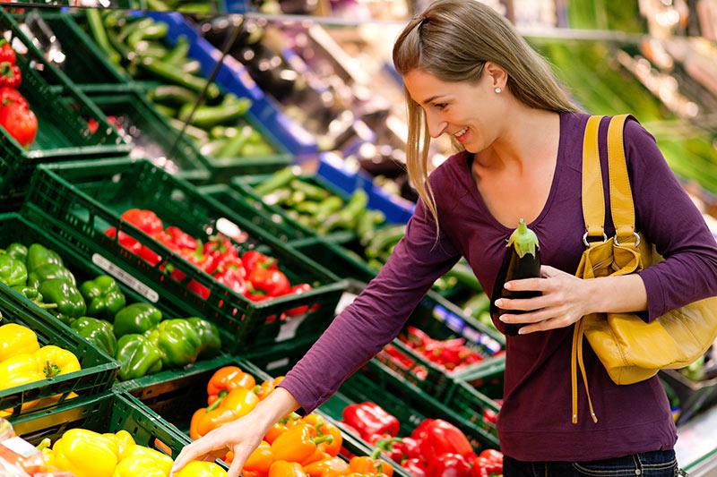 Lebensmittel Supermarkt Waage