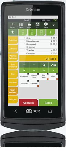 Mobilgerät Handheld Gastronomie Orderman 5