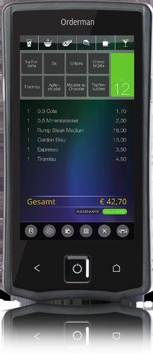 Orderman7 Handheld für Gastronomie