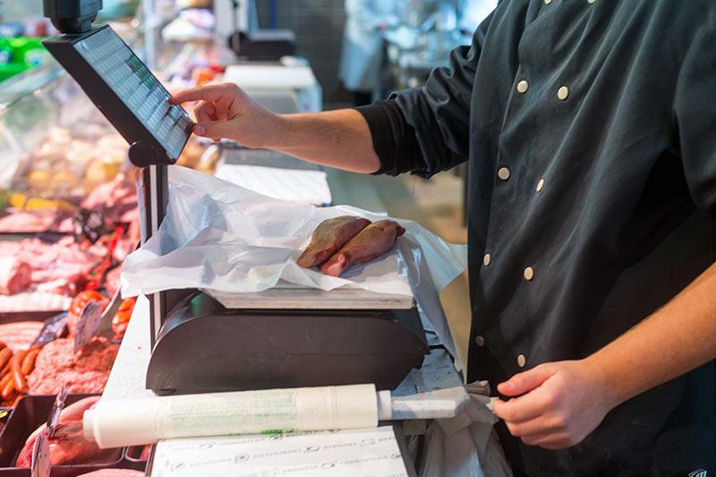 Kasse und Waage digital für Metzgerei und Wurstwaren kaufen